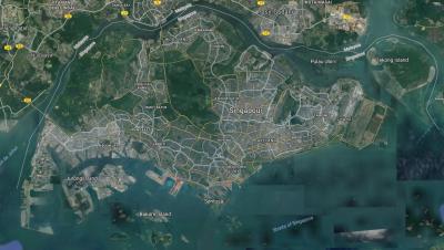 l'ile de Singapour